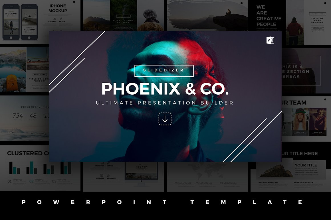 Phoenix minimal powerpoint template presentation templates phoenix minimal powerpoint template presentation templates creative market toneelgroepblik Choice Image