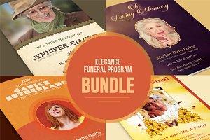 Elegance Funeral Program Bundle
