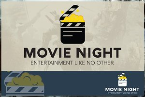Movie Night Logo Template