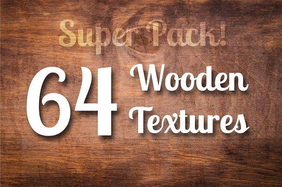 64 Wood Textures, Wooden Backgrounds