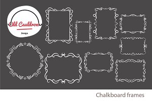 Chalkboard frames clipart CL025