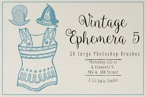 Vintage Ephemera 5 Photoshop Brushes