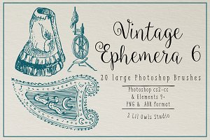 Vintage Ephemera 6 Photoshop Brushes