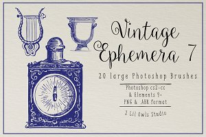 Vintage Ephemera 7 Photoshop Brushes