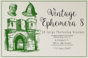 Vintage Ephemera 8 Photoshop Brushes
