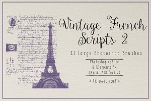 Vintage French Scripts 2 Photoshop B