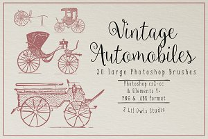 Vintage Automobiles Photoshop Brushe