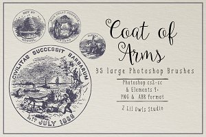 Vintage Coats of Arms Photoshop Brus