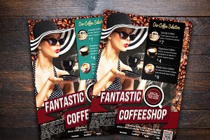 Fantastic Retro Coffee Shop Flyer