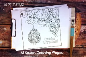 12 Easter Coloring Pages