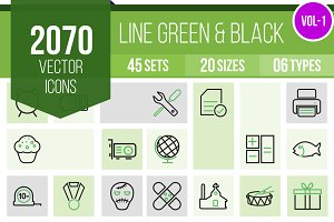 2070 Line Green & Black Icons (V1)