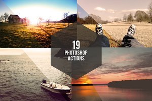 19 Photoshop Actions