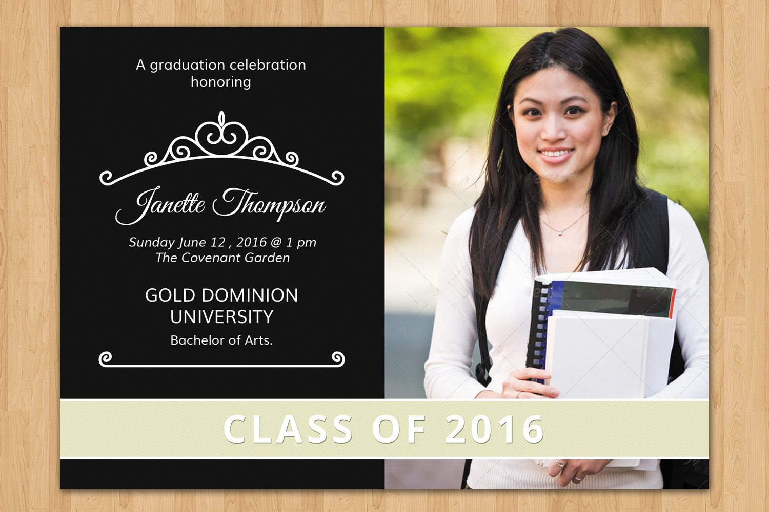 senior graduation announcement v196 flyer templates creative market. Black Bedroom Furniture Sets. Home Design Ideas