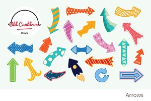Colorful arrows clipart CL023