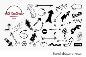 Hand-drawn arrows clipart CL024