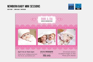 Newborn Mini Sessions Template-V197