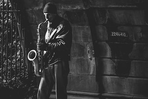 Street Saxophone Player