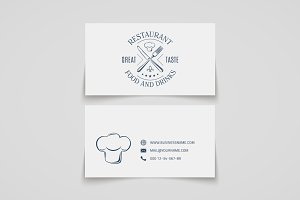 Restaurant business card template.