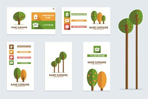 Business card with trees