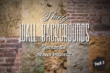 30 Wall Backgrounds - Pack#2