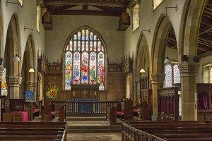 Inside a medieval church