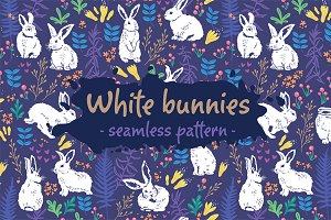 White bunnies pattern