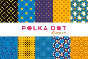 Polka Dot Colorful Set - 10 Seamless