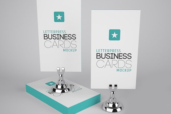 Letterpress business cards mockup 2 product mockups creative market reheart Image collections