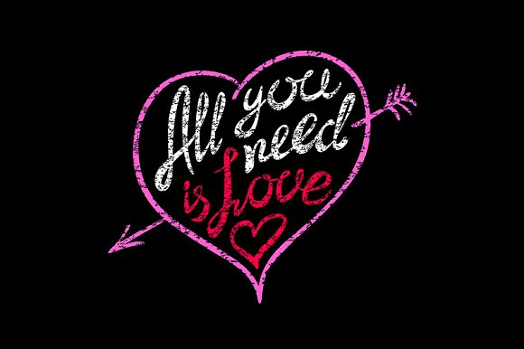 All you need is love hand written