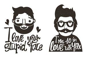 hipster love set