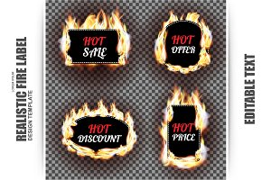 Realistic Fire Sale Labels