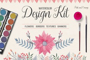 50% off! Watercolor Design Kit