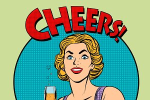 Cheers toast celebration woman