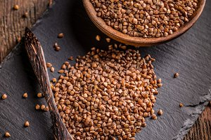 Brown buckwheat groats