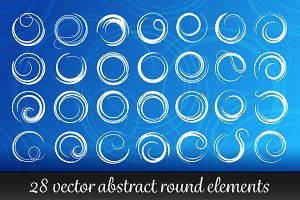 Abstract round elements vector set