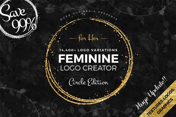 Feminine Logo Creator Circle Editio…
