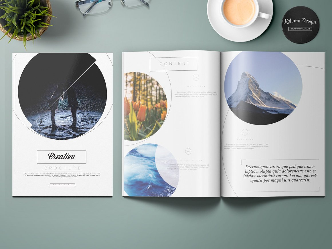 creativo brochure brochure templates creative market. Black Bedroom Furniture Sets. Home Design Ideas