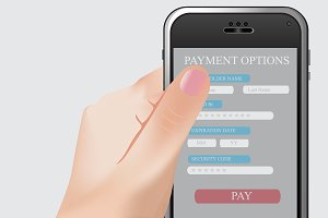 Online payment, phone