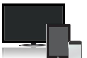 Tv, lcd, tablet, phone