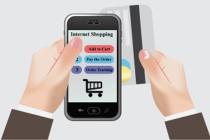 Internet, shopping, smart, phone