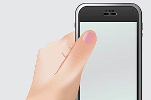 Phone, hand