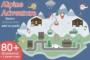 Alpine Adventure! Map Illustrations