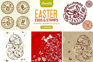 Easter Eggs & Stamps