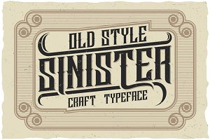 Sinister Typeface
