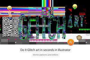 Do it Glitch Art in vector