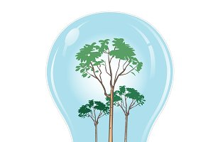 renewable, energy, concept, bulb