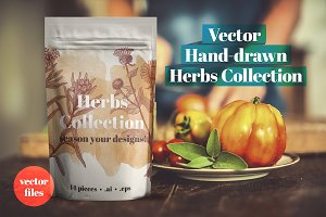 Vector Herbs Collection (.ai + .eps)