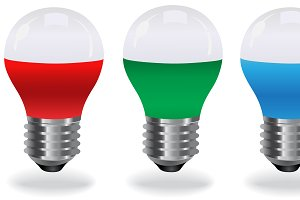 set of LED light bulbs