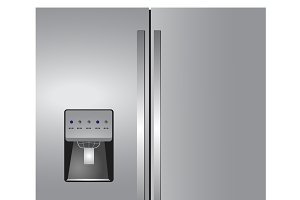 Stainless four door refrigirator