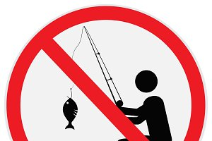 No, fishing, sign